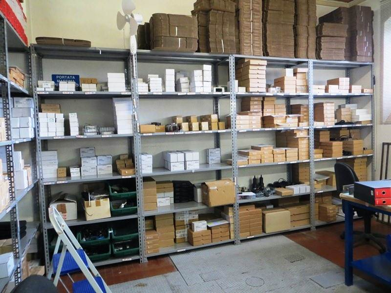 Load cells and instruments ready for delivery warehouse
